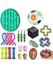 Hinder Sensorisk fidget leksaker uppsättning, bunt sensoriska leksaker set sensorisk terapi leksaker för ADHD autism stress ångest stresslindring för barn och vuxna