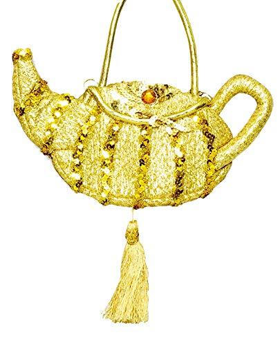 Das Kostümland Handtasche Wunderlampe zum Märchen Kostüm 1001 Nacht - Gold - Karneval Mottoparty JGA Theater