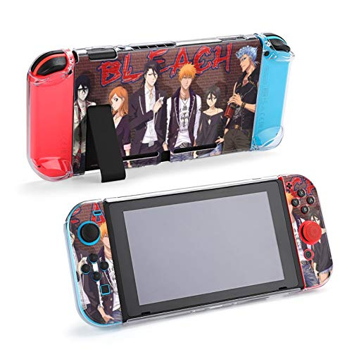 Anime Bleach Stylish Case for Nin-tendo Switch PC Case Compatible with Switch Shock-Absorption and Anti-Scratch Design HD Clear