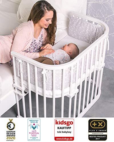 babybay maxi - Beistellbett / Baby-Bettchen Das Große   In Weiß lackiert   54 x 96.5 x 95 cm