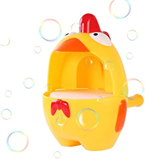 Bath Bubble Machine for Kids, Hamkaw Newest Fox & Chick Bubble Blower - Never Break Over 3 Meters, 2000Per Minute Toddler Bath Bubble Toyツfor Boys and GirlsツOutdoorツParties Favours Birthday Gift