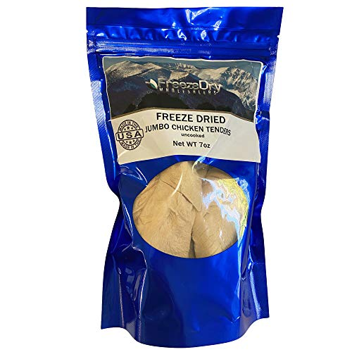 Freeze Dry Wholesalers Freeze Dried Chicken Tenders Uncooked - Family Size Backpacking & Camping Emergency Food
