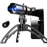Apexel HD 20-40X Zoom Lentes para Movil, Teleobjetivo lente con zoom telefoto para teléfono móvil con trípodes para iphone 11 pro huawei P40 Samsung y más
