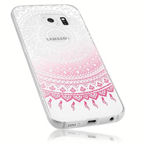 mumbi Funda compatible con Samsung Galaxy S6/S5 Duos, Mandala, rosa claro
