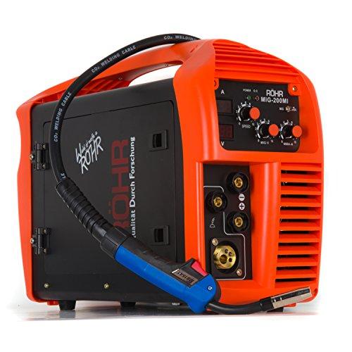Röhr MIG-200MI Inverter-Schweißgerät 3-in-1 MIG-/MMA Schweißen mit/ohne Gas DC IGBT-Technologie 240V 200A