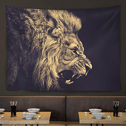 Gannon Front Wand Wohnzimmer Wand/Tier Hängende Wand/Bar/Restaurant/Tee Shop Hintergrund Dekorative Malerei/Hängen/Hängen (Color : Lion)