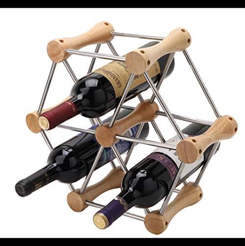 Estante para botellas de vino copas vino encimera Vino Europea creativo del estante, estante del vino creativo decoración estante de exhibición de la botella, conveniente for el estante del vino del h