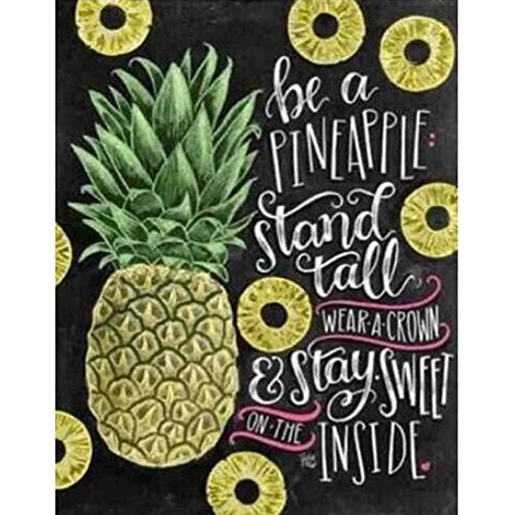 YUMEART DIY Daimond Dotz Pineapple Letters Painting Diamond Embroidery Fruits Rhinestones Mosaic Kits Fashion Romantic Wall Sticker