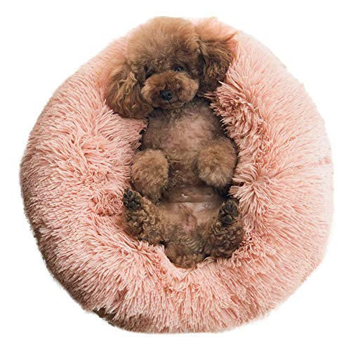 BinetGo Dog Bed Cat Bed Cushion Bed Faux Fur Donut Cuddler...