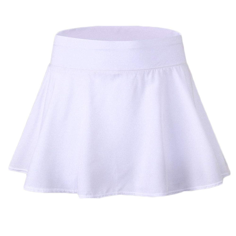 ZDCGT テニス スカート レディース インナースパッツ付き ミニ プリーツ スカート ストレッチ 吸汗速乾性 アウトドア スポーツ カジュアルウェア フィールド スカート 5color 女性用