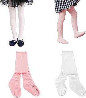 HZQDLN 2 Paar Baby Kinder Mädchen Strumpfhose Baumwolle Strickstrumpfhose mehrfarbig Ultra-Stretch 3 Monate bis 6 Jahre