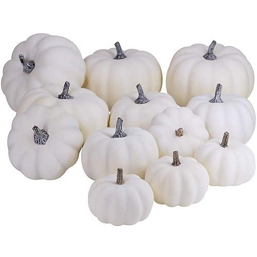 White Pumpkin Decor Amazon Com
