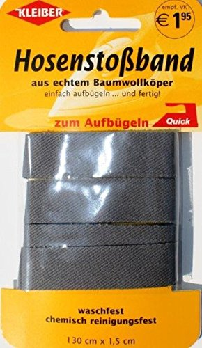 Kleiber Hose Liner Tape, Dunkelblau, 100{9b2fdaf86e0c665eb73f5a1f4423710aa94668ead8fc184815efc439f70e6b1e} Baumwolle, dunkelgrau, 60 x 109 x 0.64 cm