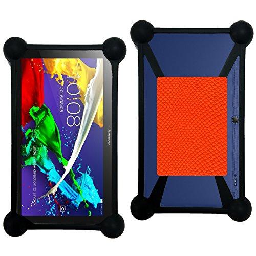 Case-Industry Mobilefashion Custodia Protettiva Case Cover per Lenovo Tab 2 A10-70 - Esterno Modello Orange Python Collection Serpent Cuoio PU
