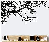 Vinilos Decorativos,Vinilo Pared,Etiqueta Engomada Del Papel Pintado De La Rama Negra A La Derecha 60 * 140Cm