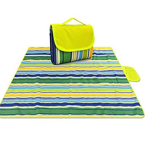 Grande couverture extérieure de pique-nique, sac portatif imperméable de coussin de 200 * 150 CM approprié à la plage, campant sur le contrôle de sable imperméable de voyage d'herbe ( Couleur : D )