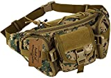 ArcEnCiel Tactical Fanny Pack for Men Waist Bag Military Hip Belt Outdoor Hiking Fishing Bumbag (Jungle Camouflage)