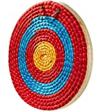 TBONTBY Traditional Solid Straw Archery Target, 3 Layers 19.5 x 2.2inches Arrows Target for Recurve Bow Longbow or Compound Bow Outdoor Shooting Practice