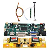 Fafeicy Placa de controlador LCD, para reparar e instalar la placa base de la TV, placa controladora LCD de entrada de audio HDD VGA DVI para HSD190MEN4 M170EN06