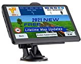 NAVRUF GPS Navigation for Car 7 Inch with High Resolution Touch Screen Real Voice Direction Vehicle GPS Navigator...