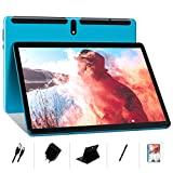 MEBERRY Tablet 10 Pollici Ultimo Android 10.0: Tablets PC 4GB + 64GB con Processore Quad-Core, Espansione SD da 128 GB | Doppia SIM | Doppia Fotocamera(5MP+8MP) | 8000mAh | WiFi | GPS, Blu