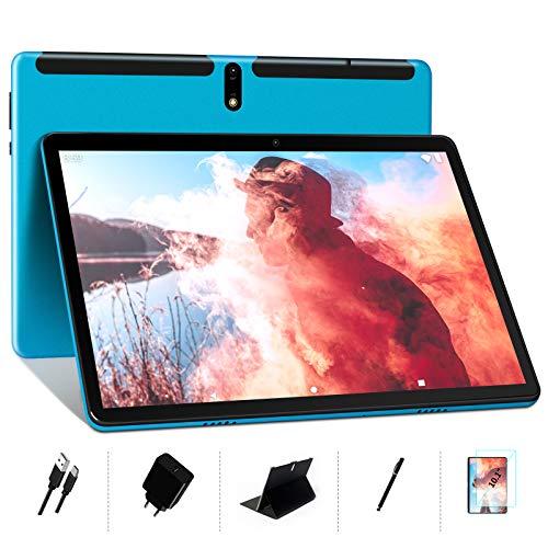 MEBERRY Tablet 10 Pollici Android 10 OS: Octa-core 1.6 GHz Tablets PC 4GB + 64GB, Sostieni DAD| Espansione SD 128 GB | Doppia Fotocamera(5MP+8MP)| 8000mAh| WiFi| GPS| Google GMS, Blu (Versione WIFI)