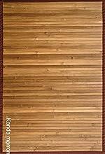 CLARA VIDAL Bertha Hogar - Alfombra Bambú Kanda, 170x240 cm, marrón