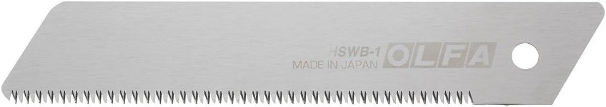 Olfa 318101 Cuchilla de sierra con dentado japonés de 141,5x25x0,5 mm para cúter HSW-1, Negro