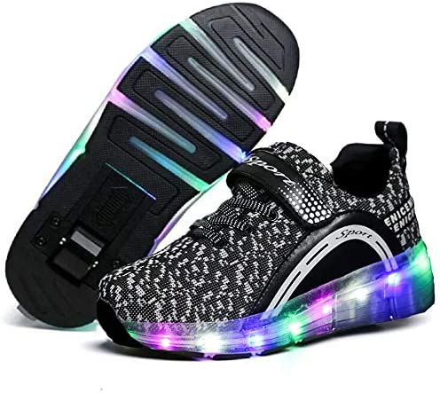 Qneic Roller Shoes Girls Boys Sneakers Kid Light...