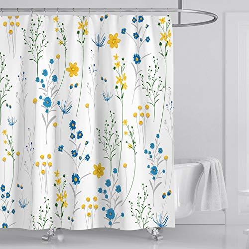 Fuloon Duschvorhänge Set für Badezimmer, Anti-Schimmel, Wasserdichter, Waschbarer,mit 12 Duschvorhängeringen, 180x180cm(72