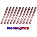 WeldingCity 10-pk Collet 10N25 (1/8') for TIG Welding Torch 17, 18 and 26 Series in Lincoln Miller ESAB Weldcraft CK Everlast