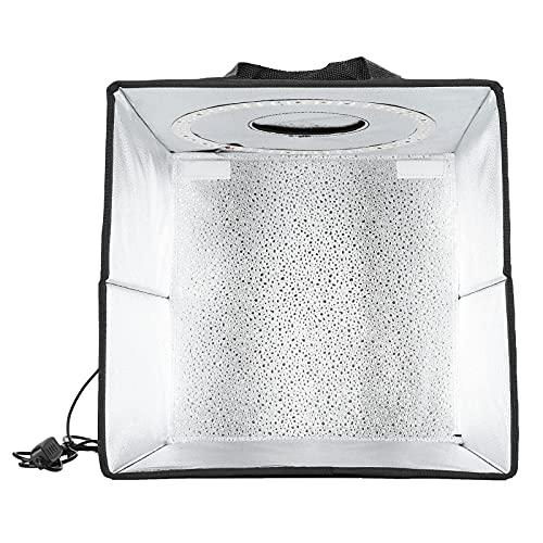 Gaeirt Caja de Toma de fotografías, atenuador de Brillo, Estudio fotográfico portátil, luz Uniforme portátil, 120 Cuentas de lámpara para Tomas en Interiores para Shutterbug Art Designer