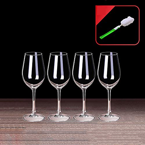 Tanktoyd Copas de Vino de Cristal de Burdeos de Estilo Italiano - Copas de Vino Tinto Copas de Vino Grandes de Cristal Transparente Premium sin Plomo, Juego de 4 para Cualquier ocasión