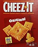 Cheez-It Baked Snack Cheese Crackers, Original, 7 oz Box(Pack of 12)