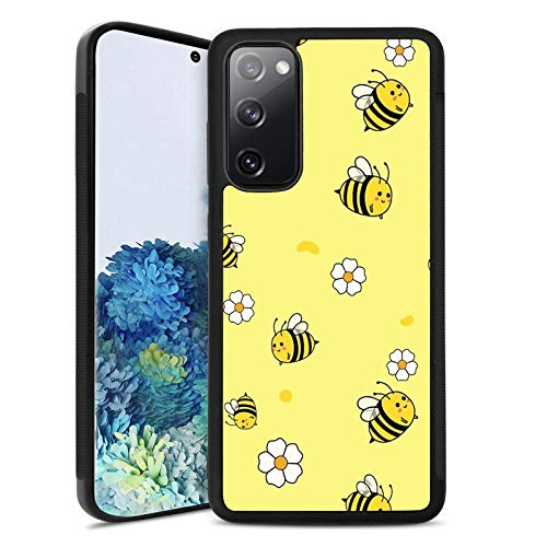 Samsung Galaxy S20 FE 5G Case Customized Design Bee Pattern,Soft Black TPU Rubber and PC Anti-Slip Full Body Protective Phone Case Suitable for Samsung Galaxy S20 FE 5G