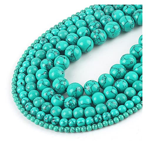 Cuentas de Piedra, Cuentas Sueltas Redondas Naturales 4 6 8 10 12 Pulsera Fit DIY Charm Beads para la fabricación de Joyas para la fabricación de Joyas (Color : Green, Item Diameter : 12mm 31pcs)