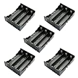 RuiLing 5-Pack 18650 Battery Holder 3 Slots x 3.7V Battery Storage Case DIY Batteries Clip Box with Pin