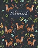 Notebook: Cute Weasel - Animals Diary / Notes / Track / Log / Journal , Book Gifts For Women Men Kids Teens Girls Boys Friends 8x10' 110 Pages