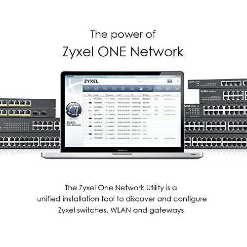 Zyxel 24-Port Gigabit Switch | Smart managed | Rackmontage und lüfterloses Design | VLAN, IGMP, QoS | Lebenslange Garantie [GS1900-24]