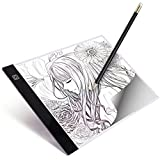 A4 LED Light Box Tracer Ultra-Thin USB Powered Portable Dimmable Brightness LED Artcraft Tracing Light Pad Light Box for Artists Drawing Sketching Animation Designing Stencilling X-ray Viewing
