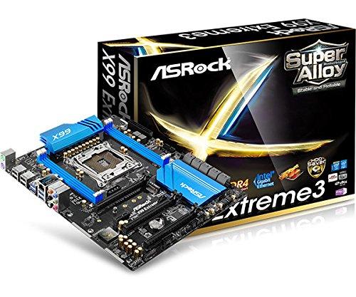 Asrock X99 Extreme3 Mainboard Sockel LGA 2011-3 (ATX, Intel X99, 4X DDR4-Speicher, 10x SATA III, PS/2, RJ-45, 4X USB 2.0/3.0)