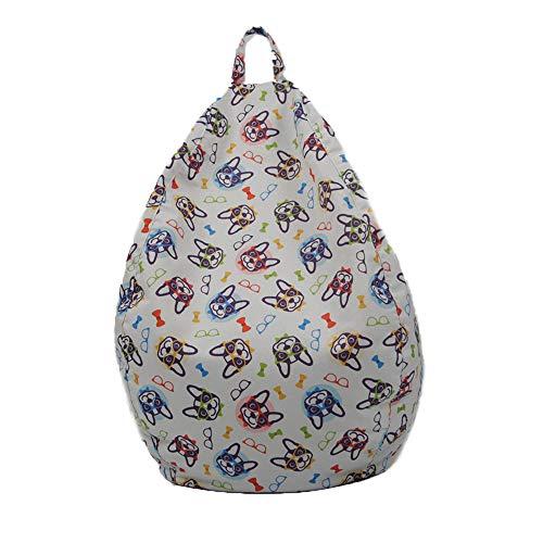 Funda de Puff Pera sin Relleno para Niños Cubierta de Sofá Perezoso Bean Bag Bolsa de Almacenamiento para Sillón Silla Fundas Infantiles de Tumbona Perezosa con Estampado de Animales (2 , 60*75cm )