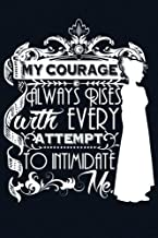 My Courage Always Rises With Every Attempt to Intimidate Me: Over 100 Jane Austen Quotes on Blank Pages for Writing and Drawing