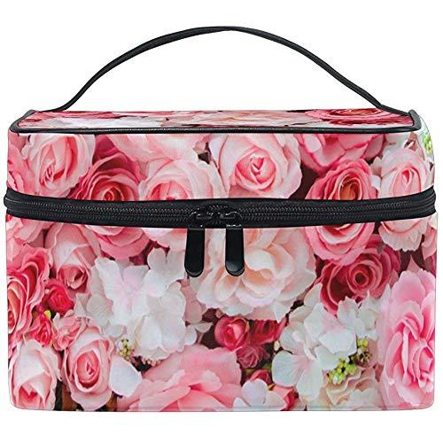 Rose Rose Femmes Voyage Maquillage Sac Portable Cosmétique Train Cas Trousse De Toilette Beauté Organisateur