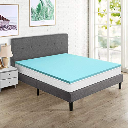 Momend Queen Memory Foam Mattress Topper 2 Inch, Ventilated Gel Mattress Pad