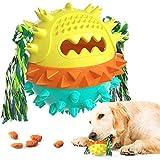Yisscen Cepillos de Dientes para Perros, Juguetes Perro Masticar, Juego de Puzzle para Cachorro Juguetes Interactivos Pelota de Entrenamiento para Cachorros Cuidado Dental - Amarillo Verde