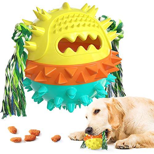 Cepillos de Dientes para Perros, Juguetes Perro Masticar, Juego de Puzzle para Cachorro Juguetes Interactivos Pelota de Entrenamiento para Cachorros Cuidado Dental   Amarillo Verde
