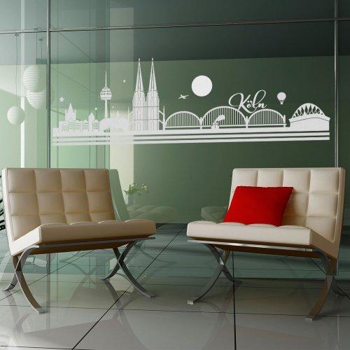 wandtattoo-factory Skyline Köln - 130 x 40cm - Glasdekor