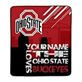 Personalized The Ohio State Buckeyes Skyline Pixel Fleece Blanket