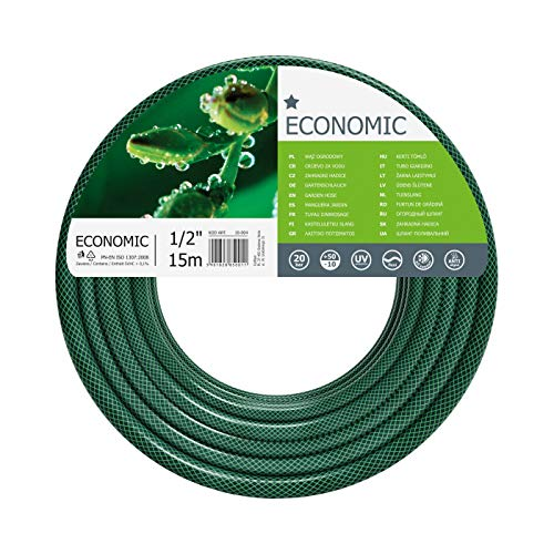 Cellfast Garden Hose ECONOMIC 1/2' 15m, Flexible and Three-layer Hose,...